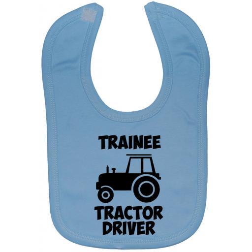 Trainee Tractor Driver Baby Feeding Bib Newborn-3 Yrs