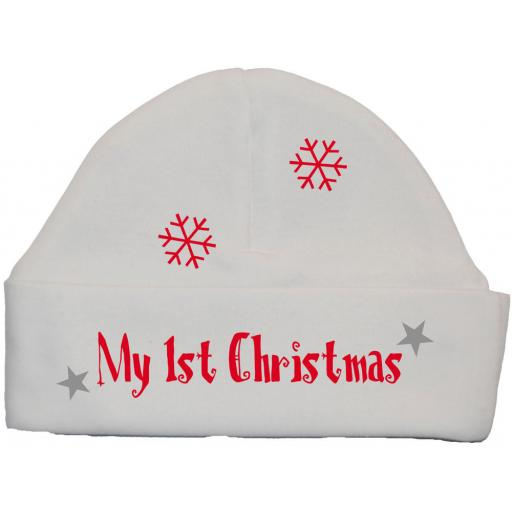 My First Christmas with Sleigh Baby Beanie Hat, Cap