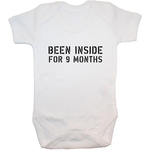 Been Inside For 9 Months Baby Grow, Bodysuit, Romper