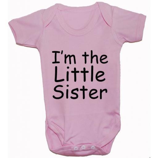 I'm The Little Sister Baby Grow, Bodysuit, Romper