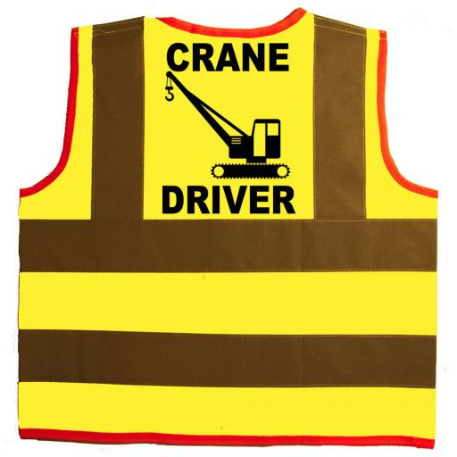 Crane Driver Hi Visibility Children's Kids Safety Jacket