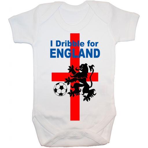 I Dribble For England Baby Grow, Bodysuit, Romper