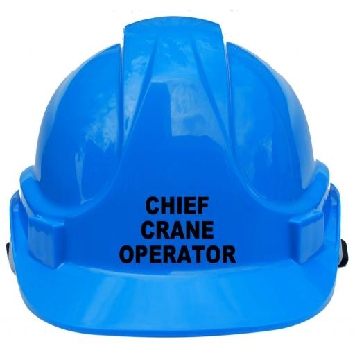 Chief Crane Operator Childrens Hard Hat Safety Helmet