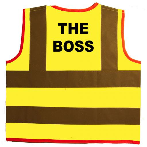 The Boss Hi Visibility Children's Kids Safety Jacket