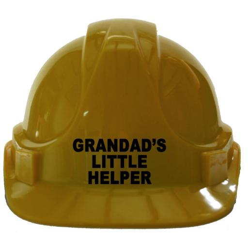 Grandad's Little Helper Childrens Hard Hat Safety Helmet