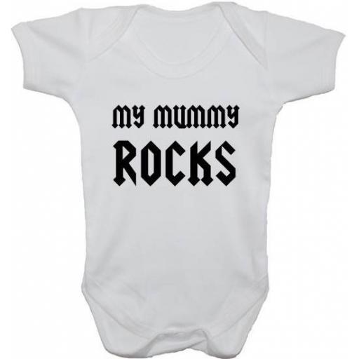 My Mummy Rocks Baby Grow, Bodysuit, Romper
