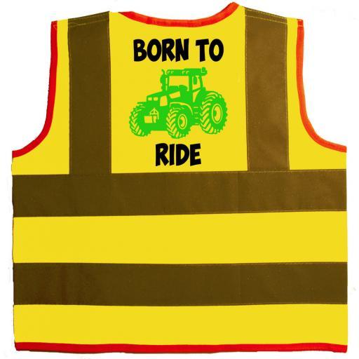 Born to Ride Hi Visibility Children's Kids Safety Jacket