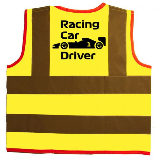 Racing Car Driver Baby Children's Kids Hi Vis Safety Jacket