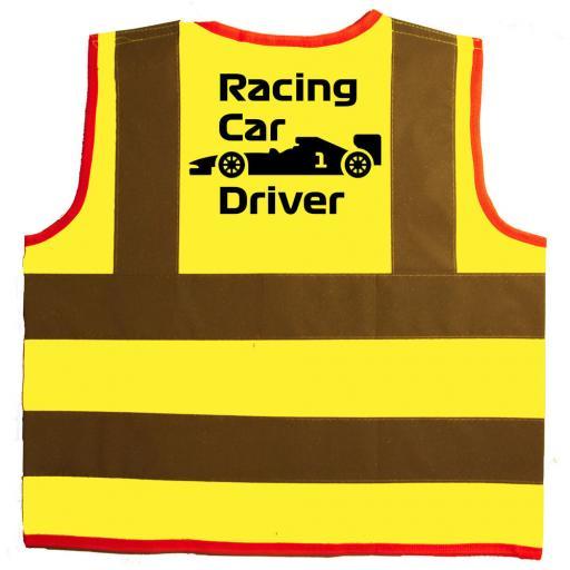 Racing Car Driver Baby Children's Kids Hi Vis Safety Jacket