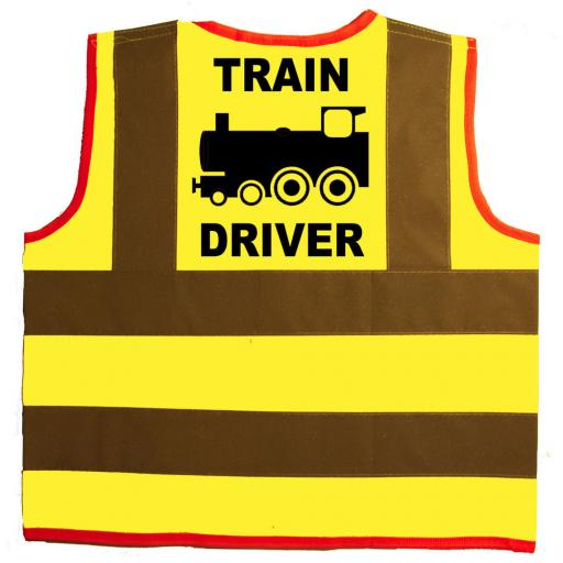 Train Driver Hi Visibility Children's Kids Safety Jacket