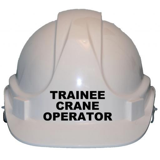 Trainee Crane Operator Childrens Hard Hat Safety Helmet