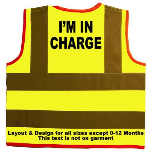 I'm in Charge Hi Visibility Children's Kids Safety Jacket Vest