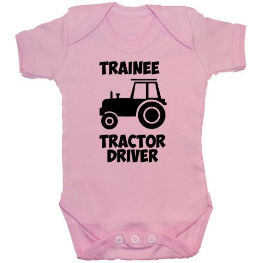 Trainee Tractor Driver Baby Grow, Romper, Bodysuit, Vest