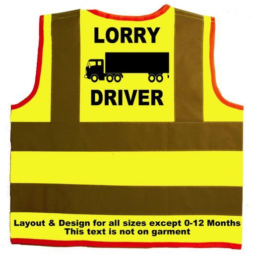 Lorry Driver Baby Children's Kids Hi Vis Safety Jacket