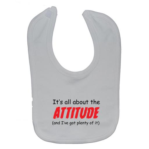 All About The Attitude Baby Feeding Bib Newborn-3 Years