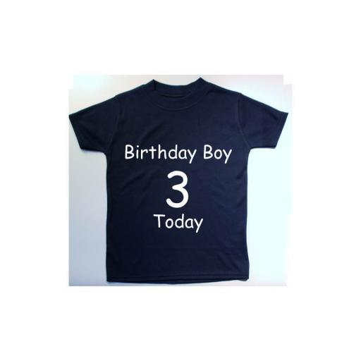 Birthday Boy With Age Baby, Children T-Shirt, Tops