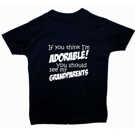 Adorable Grandparents Baby, Children T-Shirt, Top
