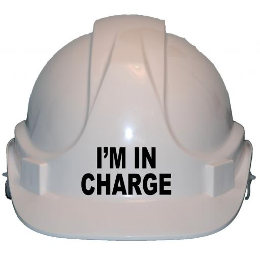 I'm in Charge Children, Kids Hard Hat Safety Helmet