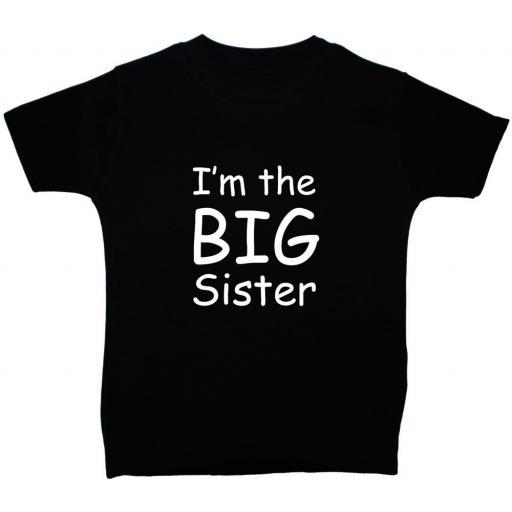 I'm The Big Sister Short Sleeve T-Shirt, Tops
