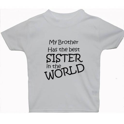 My Brother Has Best Sister..Baby, Children T-Shirt, Top