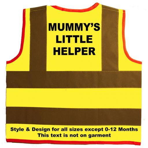 Mummy's Little Helper Hi Visibility Children's Kids Safety Jacket