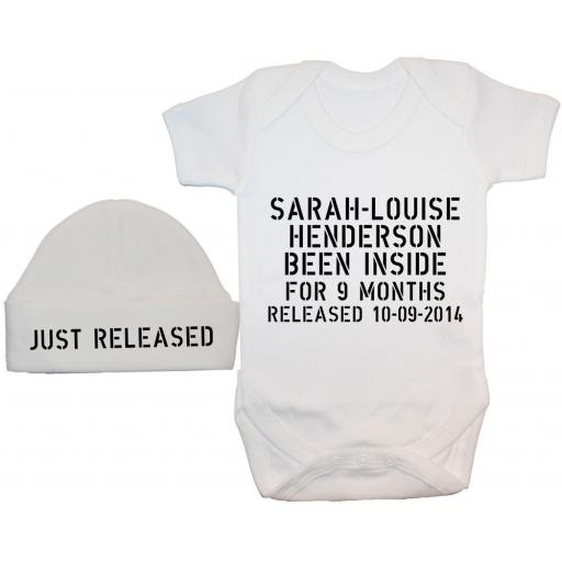 Personalised Been Inside Baby Bodysuit, Romper & Hat