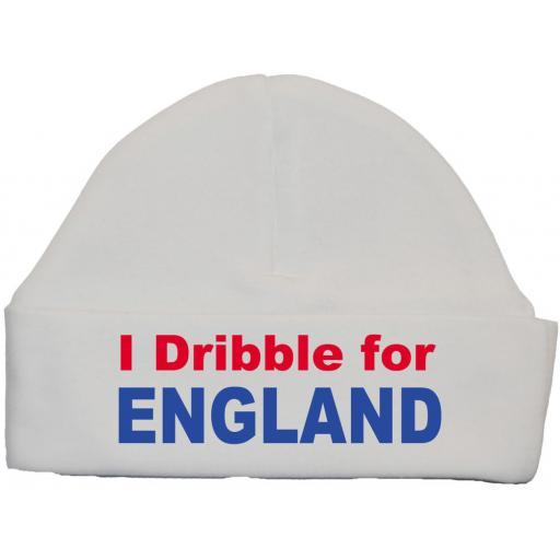 I Dribble For England Baby Beanie Hat Newborn-12m