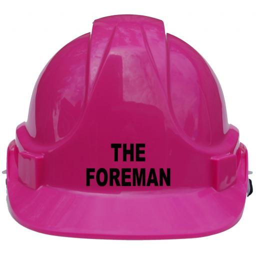 The Foreman Childrens Hard Hat Safety Helmet One Size