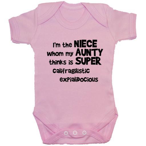 I'm The Niece Whom My Aunty...Baby Grow, Bodysuit