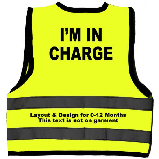 I'm in Charge Hi Visibility Children's Kids Safety Jacket Vest
