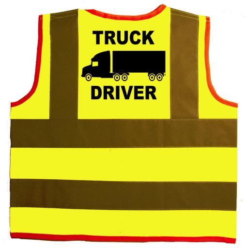 Truck Driver Baby Children's Kids Hi Vis Safety Jacket