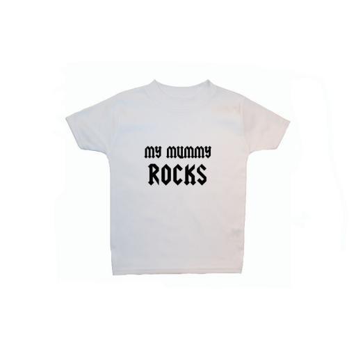 My Mummy Rocks Baby, Children T Shirt, Tops