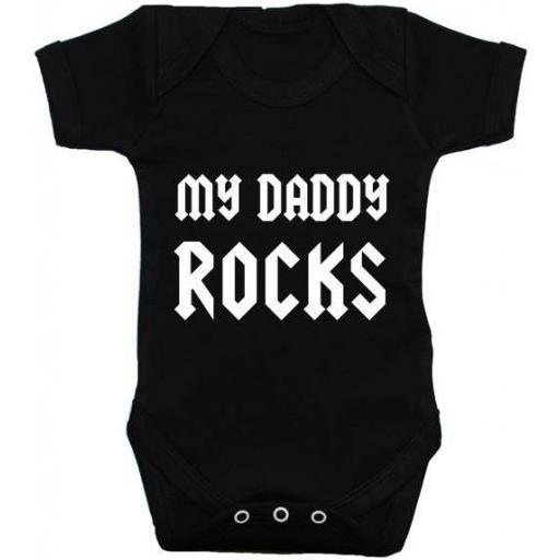 My Daddy Rocks Baby Grow, Bodysuit, Romper