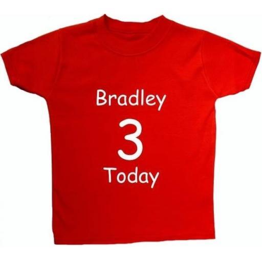 Personalised Birthday Boy, Girl Name Baby, Children T Shirt