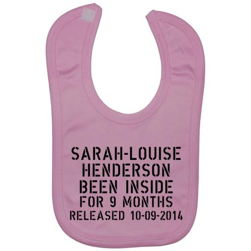 Been Inside Personalised With Name Baby Feeding Bib