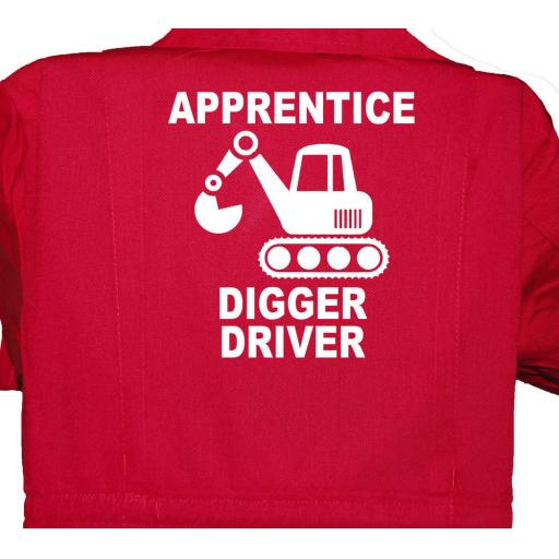 Apprentice Digger Driver Childrens, Kids, Coverall, Boiler suit, Overalls