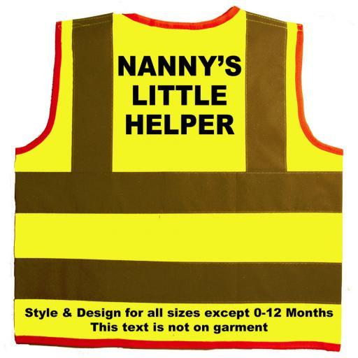 Nanny's Little Helper Hi Visibility Children's Kids Safety Jacket