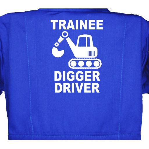 Trainee Digger Driver Childrens, Kids, Coverall, Boiler suit, Overalls