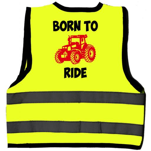 Born to Ride Hi Visibility Children's Kids Safety Jacket