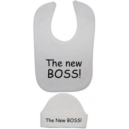 The New Boss Baby Feeding Bib & Beanie Hat