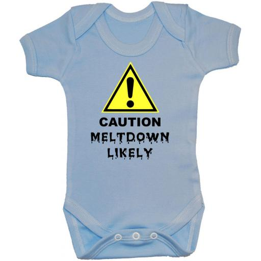 Caution Meltdown Likely Baby Grow, Romper, Bodysuit, Vest