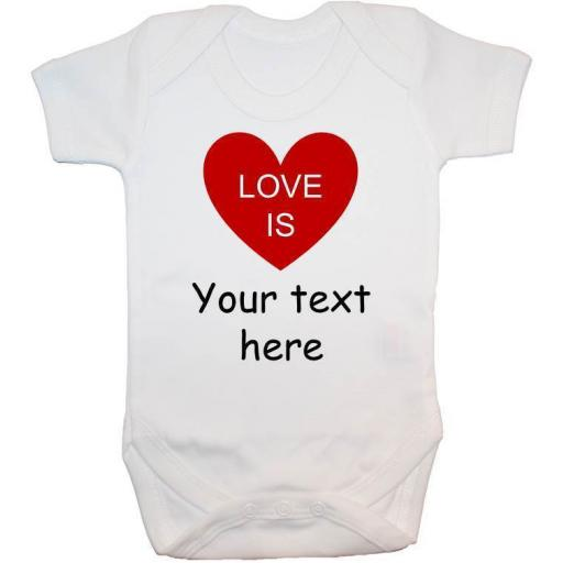 Love is...Personalised Baby Grow, Bodysuit, Romper