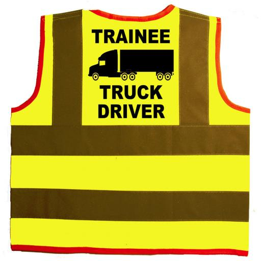 Trainee Truck Driver Baby Children's Hi Vis Safety Jacket