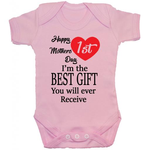 Happy 1st Mothers Day Baby Bodysuit, Romper, Babygrow