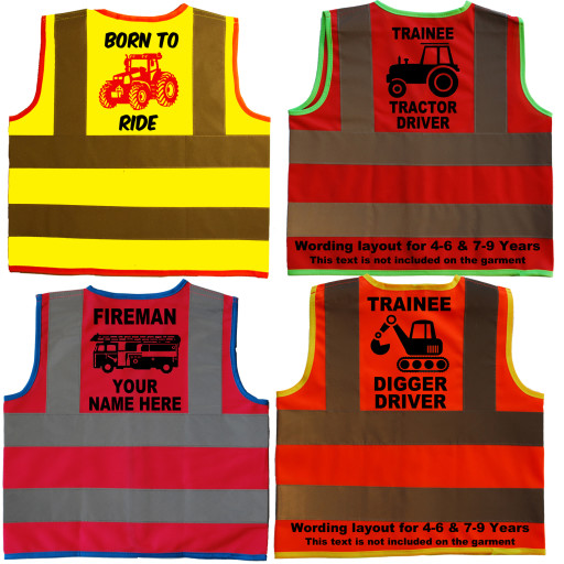 Trainee Tractor Driver Childens Baby Hi Vis Jackets