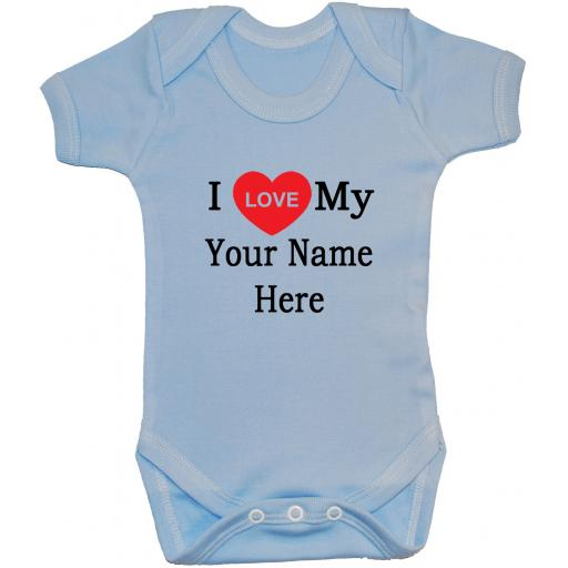 Personalised I Love My Own Words Baby Grow, Bodysuit