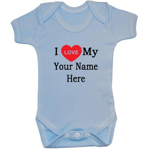 Personalised I Love My Own Words Baby Grow, Bodysuit