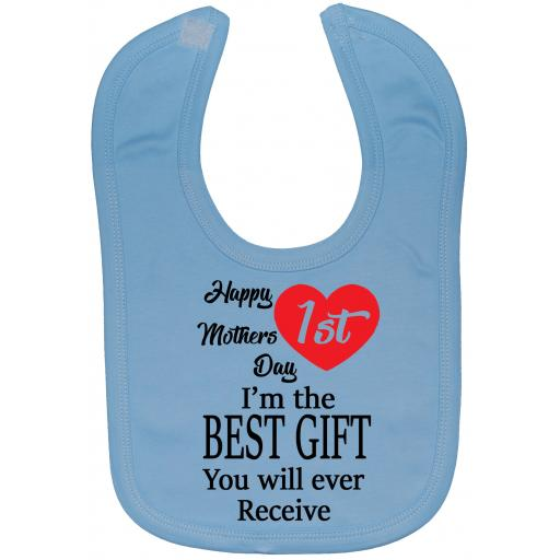 Happy 1st Mothers Day Baby Feeding Bibs Newborn-3 Years