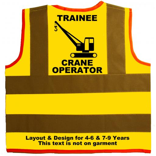 Trainee Crane Operator Hi Visibility Children's Kids Safety Jacket