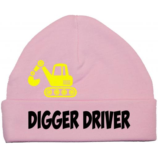 Digger Driver Baby Beanie Hat/Cap 0-12m